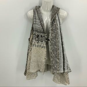 Free people boHo asymmetrical hemline plush vest